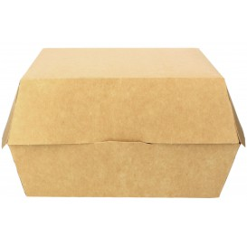 Paper Burger Box Kraft Mega Size 18x16,5x9cm (25 Units)