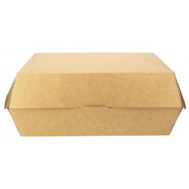Paper Burger Box Kraft Giant size 23x17,5x8cm (25 Units)
