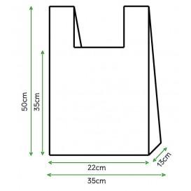 Plastic T-Shirt Bag White 35x50cm (5000 Units)