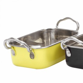 Serving Bucket Steel Yellow 14,5x9,5cm (1 Unit)