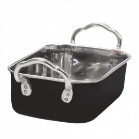 Serving Bucket Steel Black 14,5x9,5cm (1 Unit)