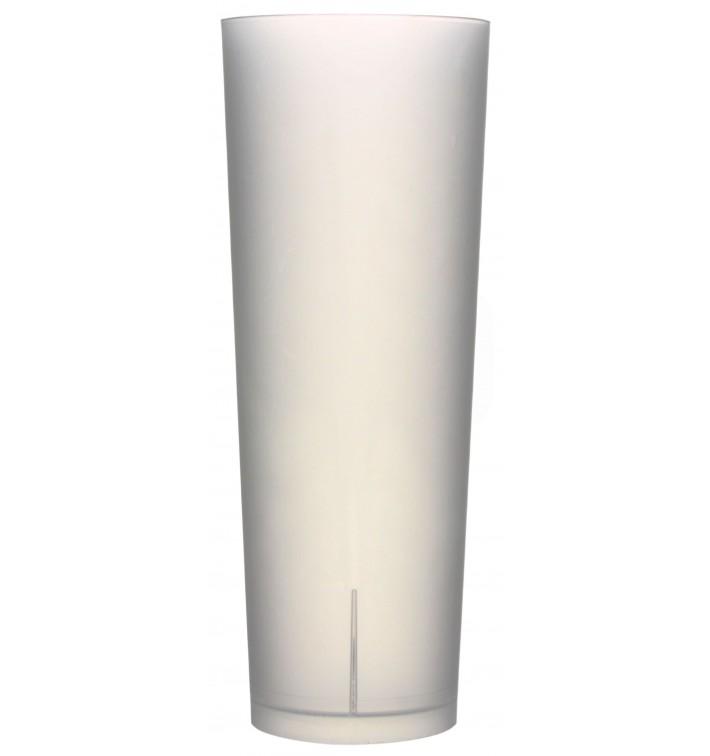 "Plastic Collins Glass PP Reusable ""Frost"" 330ml (10 Units)"