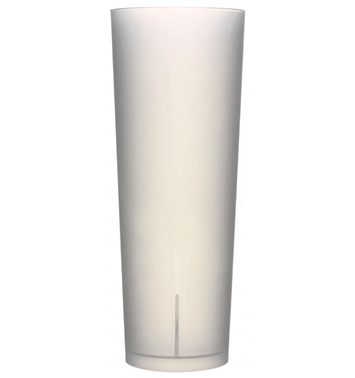 "Plastic Collins Glass PP Reusable ""Frost"" 330ml (420 Units)"