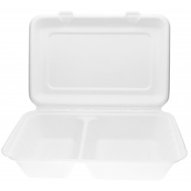 Sugarcane Hinged Burger Container 32x24x5cm (50 Units)