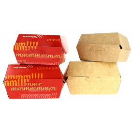 Paper Burger Box XXL 14,5x14,5x8cm (25 Units)