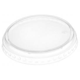 Plastic Lid PET Crystal Flat Ø9,5cm (1792 Units)