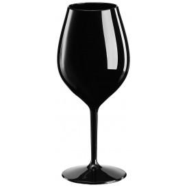 "Reusable Plastic Glass Wine ""Tritan"" Black 510ml (1 Unit)"
