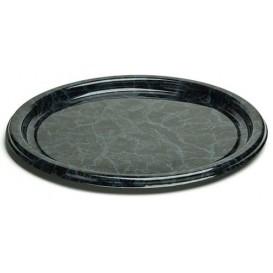 Plastic Plate Round shape Marble Vein 18 cm (25 Units)