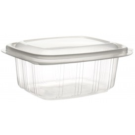 Plastic Hinged Deli Container Microwavable PP High Dome Lid 250ml (50 Units)