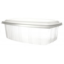 Plastic Hinged Deli Container Microwavable PP High Dome Lid 2000ml (25 Units)