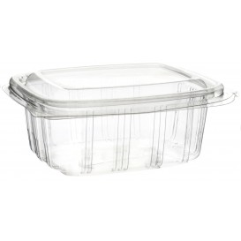 Plastic Hinged Deli Container OPS High Dome Lid 250ml (50 Units)