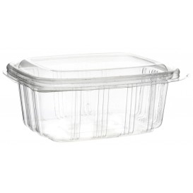 Plastic Hinged Deli Container OPS High Dome Lid 370ml (50 Units)