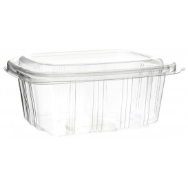 Plastic Hinged Deli Container OPS High Dome Lid 750ml (350 Units)