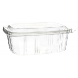 Plastic Hinged Deli Container OPS High Dome Lid 1000ml (50 Units)