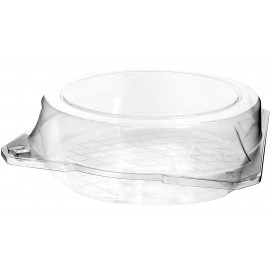Plastic Hinged Bakery Container PET Ø23x8cm (23 Units)