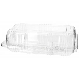 Plastic Hinged Bakery Container PET 18x9,5x6cm (220 Units)