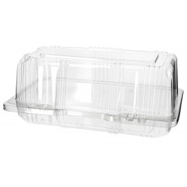 Plastic Hinged Bakery Container PET 18x9,5x8cm (20 Units)