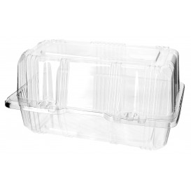 Plastic Hinged Bakery Container PET 18x9,5x10cm (20 Units)