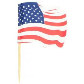 USA Flag Food Pick 6,5cm (14400 Units)
