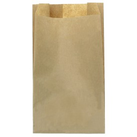 Paper Food Bag Kraft 14+7x24cm (100 Units)
