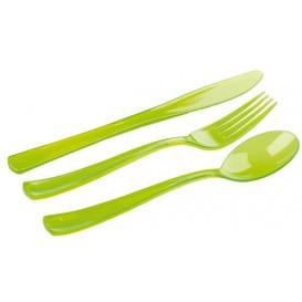 Plastic Cutlery Kit Fork, Knife, Spoon Green (20 Kits)