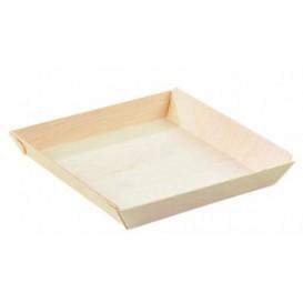 Wooden Plate Square Shape 13x13x2cm 500ml (25 Units)
