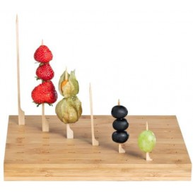 Wooden Holder for Food Pick Golf Design 25x20x2,5cm (10 Units)