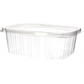 Plastic Hinged Lid OPS 1000ml (60 Units)
