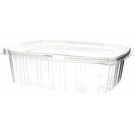 Plastic Hinged Lid OPS 1500ml (60 Units)