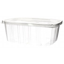 Plastic Hinged Lid OPS 2000ml (60 Units)