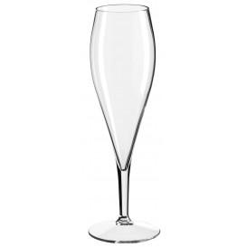 Reusable Plastic Flute Sparkling Wine Clear Tritan 375ml (6 Units)