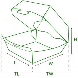 Paper Burger Box 12x12x7cm (450 Units)