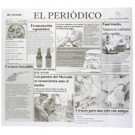 "Paper Food Wrap Grease-Proof ""Periodico"" 28x31cm (1000 Units)"