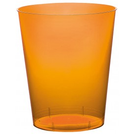 "Plastic Cup PS ""Moon"" Orange Clear 350ml (20 Units)"