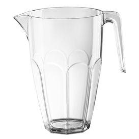 Plastic Jar with Lid Clear SAN Reusable 2250ml (1 Unit)