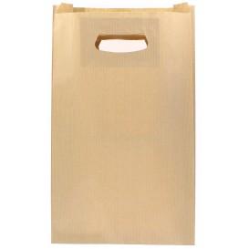 Paper Bag with Handles Kraft Kraft Die Cut 24+7x37cm (250 Units)