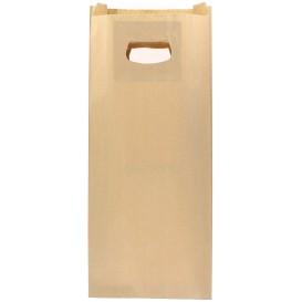 Paper Bag with Handles Kraft Die Cut 18+6x32cm (500 Units)