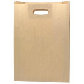 Paper Bag with Handles Kraft Die Cut 31+8x42cm (50 Units)