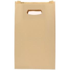 "Paper Bag with Handles Kraft ""Hawanna"" Die Cut 24+7x37cm (250 Units)"