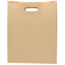 "Paper Bag with Handles Kraft ""Hawanna"" Die Cut 41+10x42cm (250 Units)"