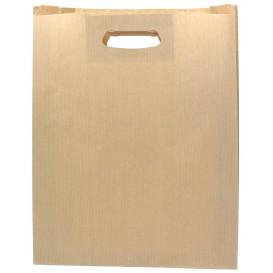 Paper Bag with Handles Kraft Die Cut 41+10x42cm (50 Units)