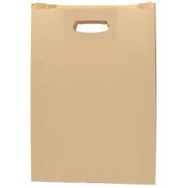 "Paper Bag with Handles Kraft ""Hawanna"" Die Cut 31+8x42cm (250 Units)"
