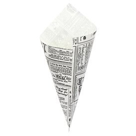 """Paper Food Cone Grease-Proof """"Times"""" 24cm 100g (250 Units)"""
