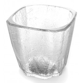 "Plastic Glass SAN Reusable ""Mini Drink"" ""Cube"" 200ml (96 Units)"