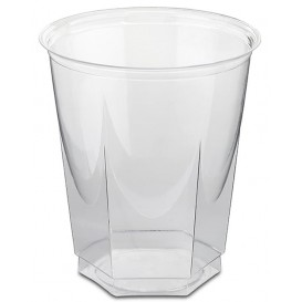 Plastic Cup PS Crystal Hexagonal shape 250ml (50 Units)