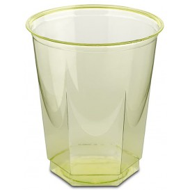 Plastic Cup PS Crystal Hexagonal shape Pistachio 250ml (10 Units)