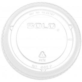 Plastic Lid PET Crystal Flat Ø9,8cm (100 Units)