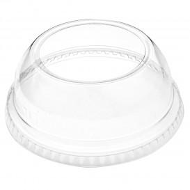 Plastic Dome Lid PET Crystal Single Opening Ø9,2cm (100 Units)