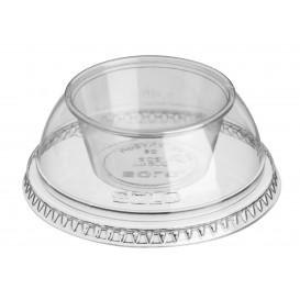 "Plastic Lid with Portion Cup PET Crystal ""Dress"" Ø9,2cm (100 Units)"