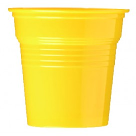 Plastic Shot PS Yellow 80ml Ø5,7cm (50 Units)
